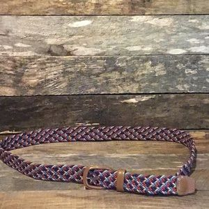 Vintage Woven and Leather Belt